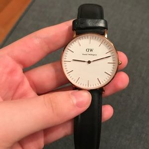Classic Black Sheffield Daniel Wellington Watch